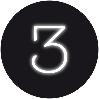 Applique avec prise Neon Art / Chiffre  3 - Seletti blanc en verre