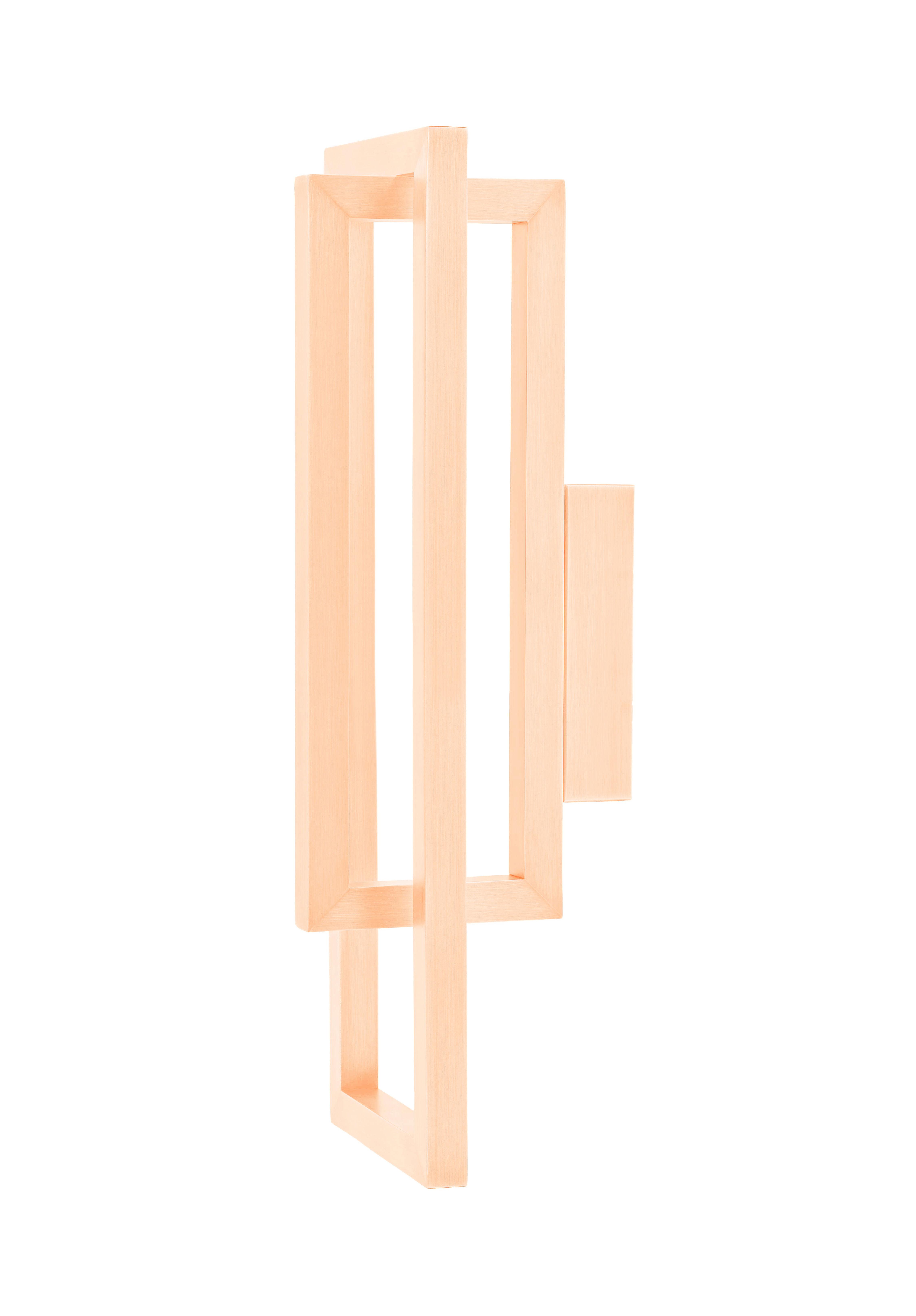 Luminaire - Appliques - Applique Borely LED / Métal - H 48 cm - Spécimen Editions - Cuivre mat - Laiton