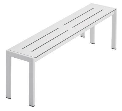 Möbel - Bänke - Sanmarco Bank / L 100 cm - Zanotta - Weiß - B 100 cm - gefirnister Stahl, stratifiziertes Laminat