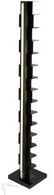 Möbel - Regale und Bücherregale - Ptolomeo Luce Beleuchtetes Bücherregal / LED - H 215 cm - Opinion Ciatti - Schwarz - lackierter Stahl