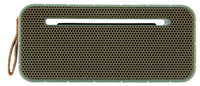 Accessories - Speakers & Audio - aMOVE Bluetooth speaker - Wireless by Kreafunk - Green, Gold - Leather, Metal, Plastic material