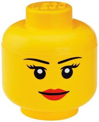 Decoration - Children's Home Accessories - Lego® Head Girl Box - Large by ROOM COPENHAGEN - Girl / Yellow - Polypropylene