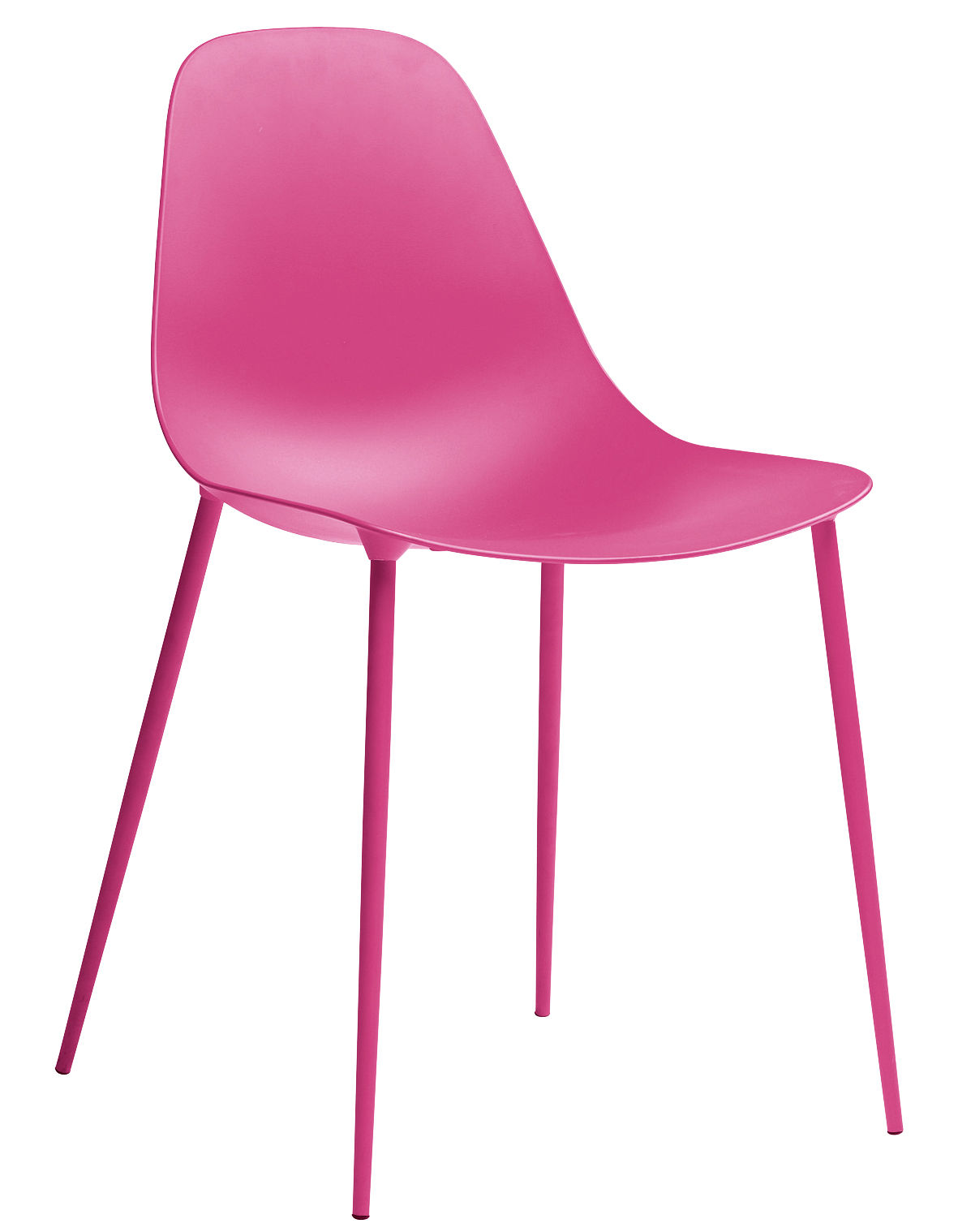 Furniture - Chairs - Mammamia Chair - Metal shell & legs by Opinion Ciatti - Pink - Aluminium, Metal