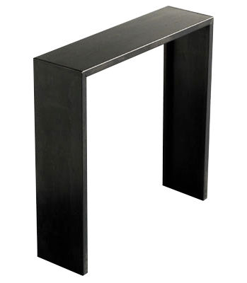 Furniture - Console Tables - Irony Console by Zeus - Black phosphate steel - Phosphated steel
