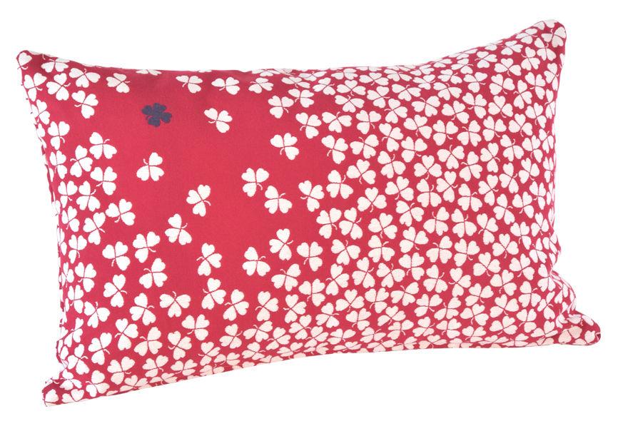 Déco - Coussins - Coussin d'extérieur Trèfle / 68x44 cm - Fermob - Groseille - Mousse, Tissu