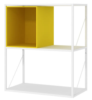 Furniture - Bookcases & Bookshelves - Minima Crate - / Open - W 30 cm by MDF Italia - Yellow - Wood fibre