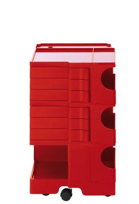 Desserte Boby / H 73 cm - 6 tiroirs - B-LINE rouge en matière plastique