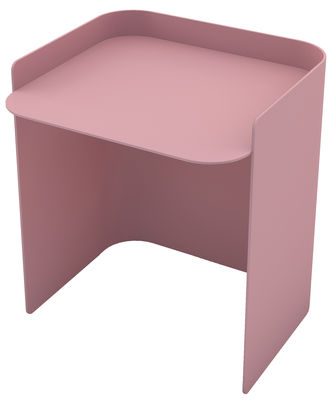 Furniture - Coffee Tables - Flor End table - / Small - H 35,5 cm by Matière Grise - Light Pink - Painted steel