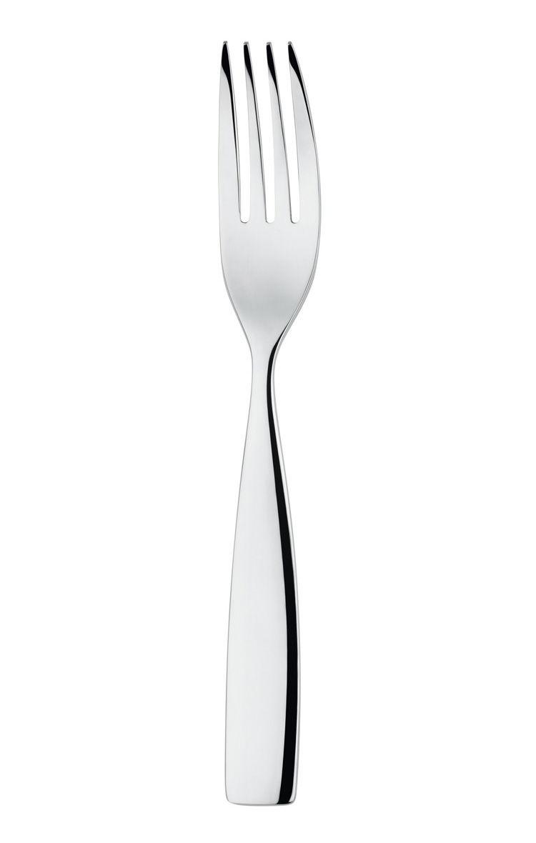 Tavola - Posate - Forchetta da dessert Dressed - L 17 cm di Alessi - Forchetta da dessert - Acciaio - Acciaio inossidabile