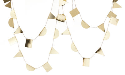 Decoration - Home Accessories - Paper Garland - L 300 cm by Ferm Living - Gold - Paper