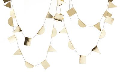 Interni - Oggetti déco - Ghirlanda Paper - / L 300 cm di Ferm Living - Oro - Carta