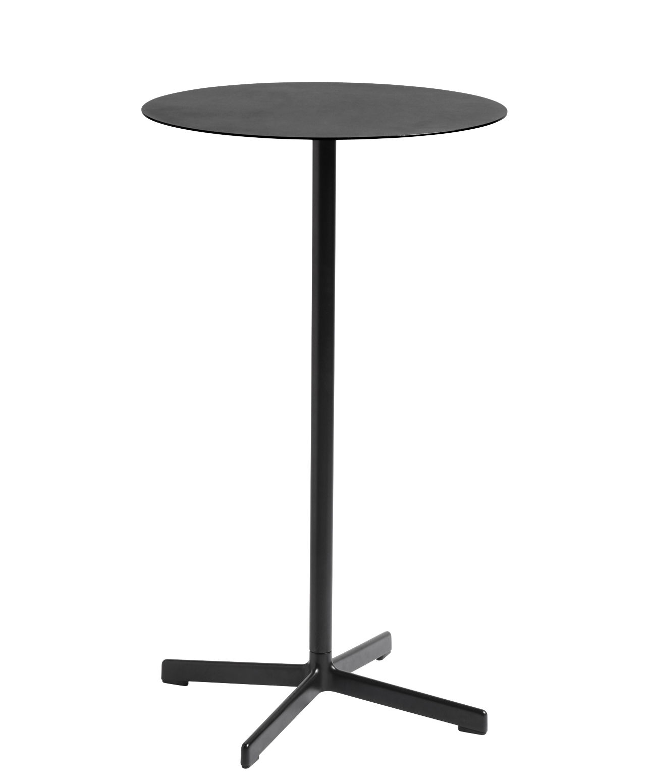 Furniture - High Tables - Neu High table - / Ø 60 x H 106 cm by Hay - Black - Epoxy lacquered cast aluminium, Epoxy-lacquered electro-galvanised steel