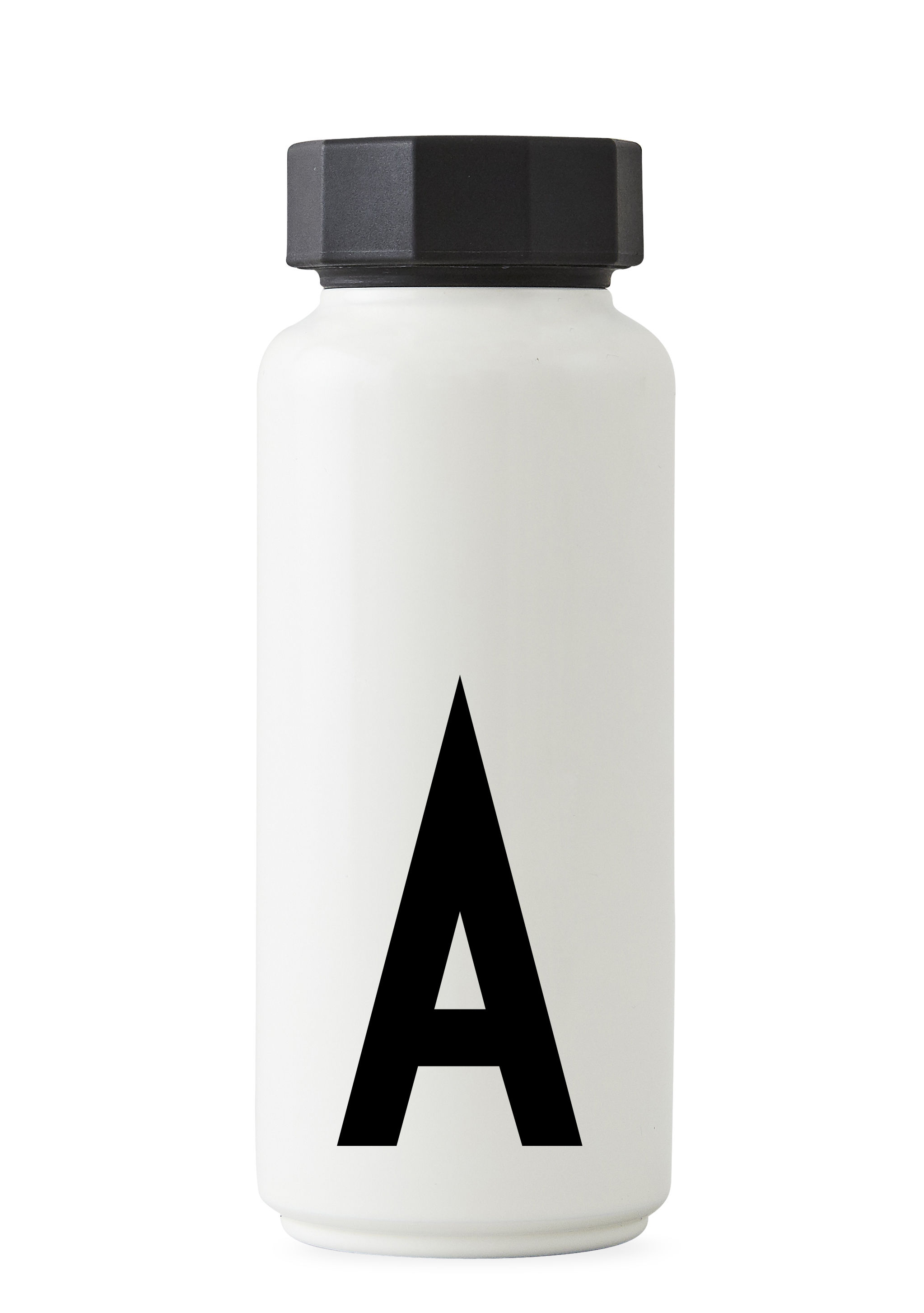 Tableware - Water Carafes & Wine Decanters - Arne Jacobsen Insulated bottle - / 500 ml - Letter A by Design Letters - White / Letter A - Polypropylene, Stainless steel
