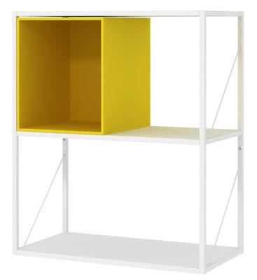 Möbel - Regale und Bücherregale - Minima Kiste / offen - L 30 cm - MDF Italia - Gelb - Holzfaser