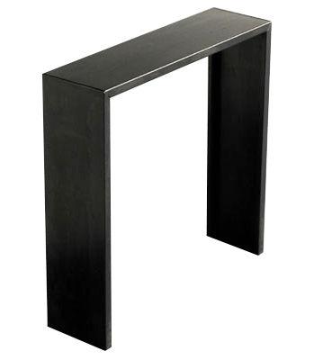 Möbel - Konsole - Irony Konsole - Zeus - H 100 cm - Stahl: schwarz - phosphatierter Stahl