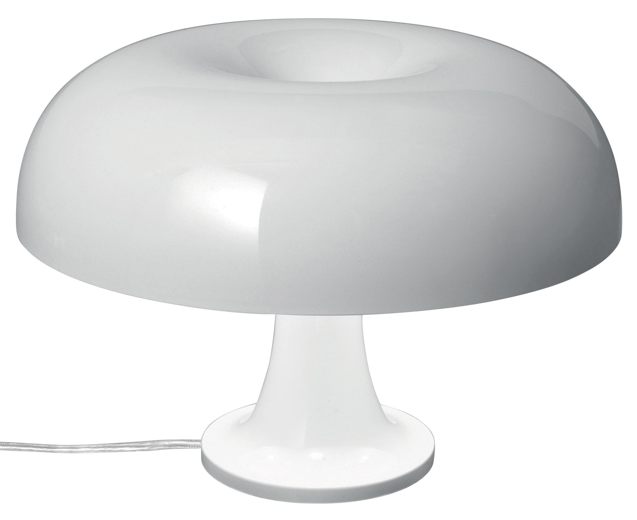 Illuminazione - Lampade da tavolo - Lampada da tavolo Nessino di Artemide - Bianco opaco - policarbonato