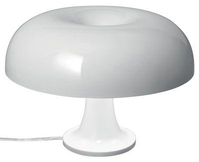 Luminaire - Lampes de table - Lampe de table Nessino / Ø 32 cm - Artemide - Blanc opaque - Polycarbonate