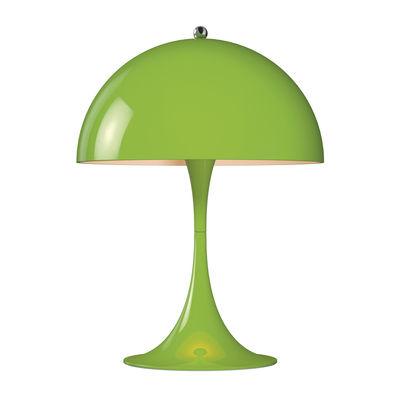 Lampe de table Panthella Mini LED / H 33,5 cm - Métal - Louis Poulsen vert en métal