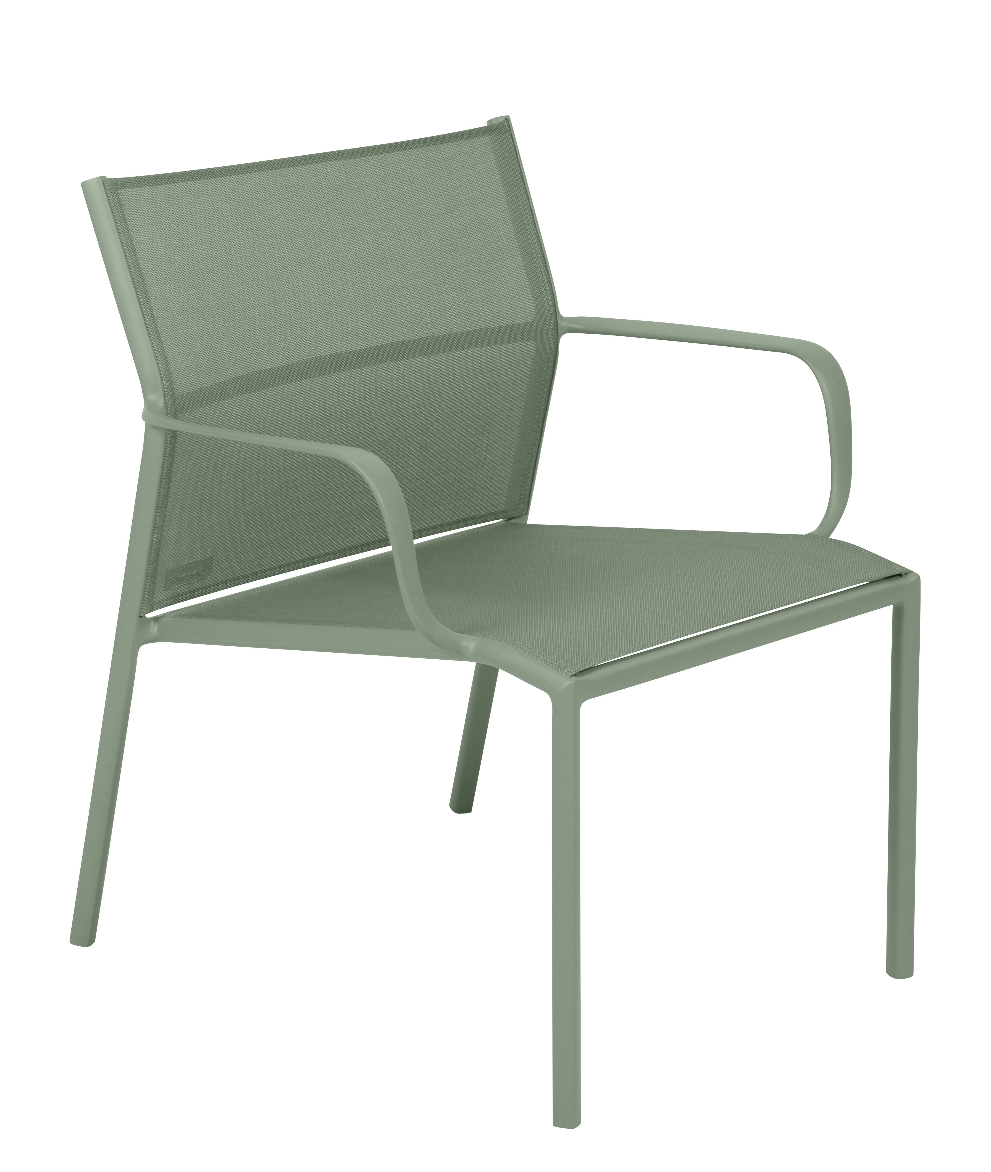 Furniture - Armchairs - Cadiz Low armchair - / Cloth by Fermob - Cactus - Batyline® fabric, Lacquered aluminium