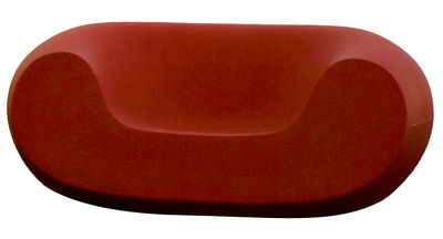 Furniture - Teen furniture - Chubby Low armchair by Slide - Red - recyclable polyethylene
