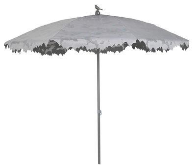 Parasol Shadylace Ø 245 cm - Sywawa gris en métal