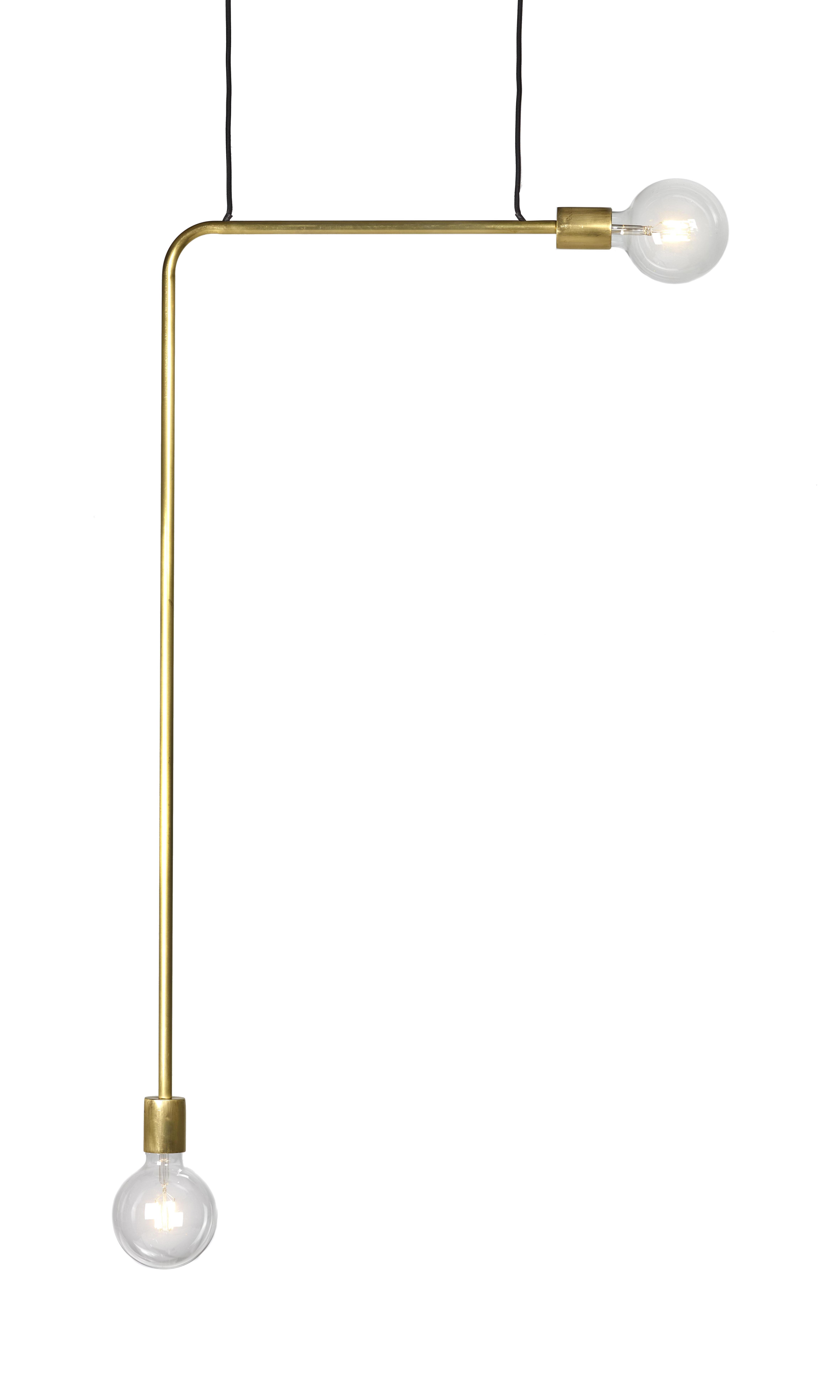 Lighting - Pendant Lighting - Essentials n°18-04 Pendant - / Metal - L 55 x H 144 cm by Serax - Brass - Metal