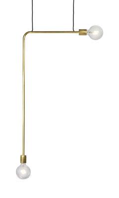 Essentials n°18 Pendelleuchte / Metall - L 55 x H 144 cm - Serax - Messing