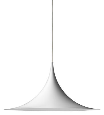Semi Pendelleuchte Ø 47 cm - Neuauflage von 1968 - Gubi - Weiß mattiert