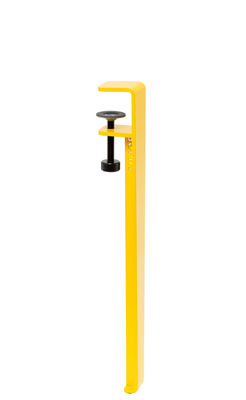 Arredamento - Tavolini  - Gamba con fissaggio a morsetto / H 43 cm - Per tavolino basso & panca - TipToe - Giallo cobalto - Acciaio termolaccato