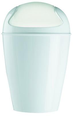 Déco - Salle de bains - Poubelle Del XS H 24 cm - 2 Litres - Koziol - Blanc - Polypropylène