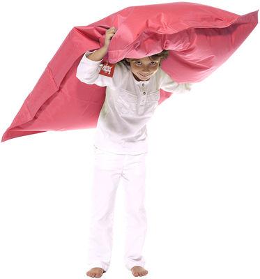 Pouf Junior / Pour enfant - Fatboy Larg 100 x L 130 cm rose clair en tissu