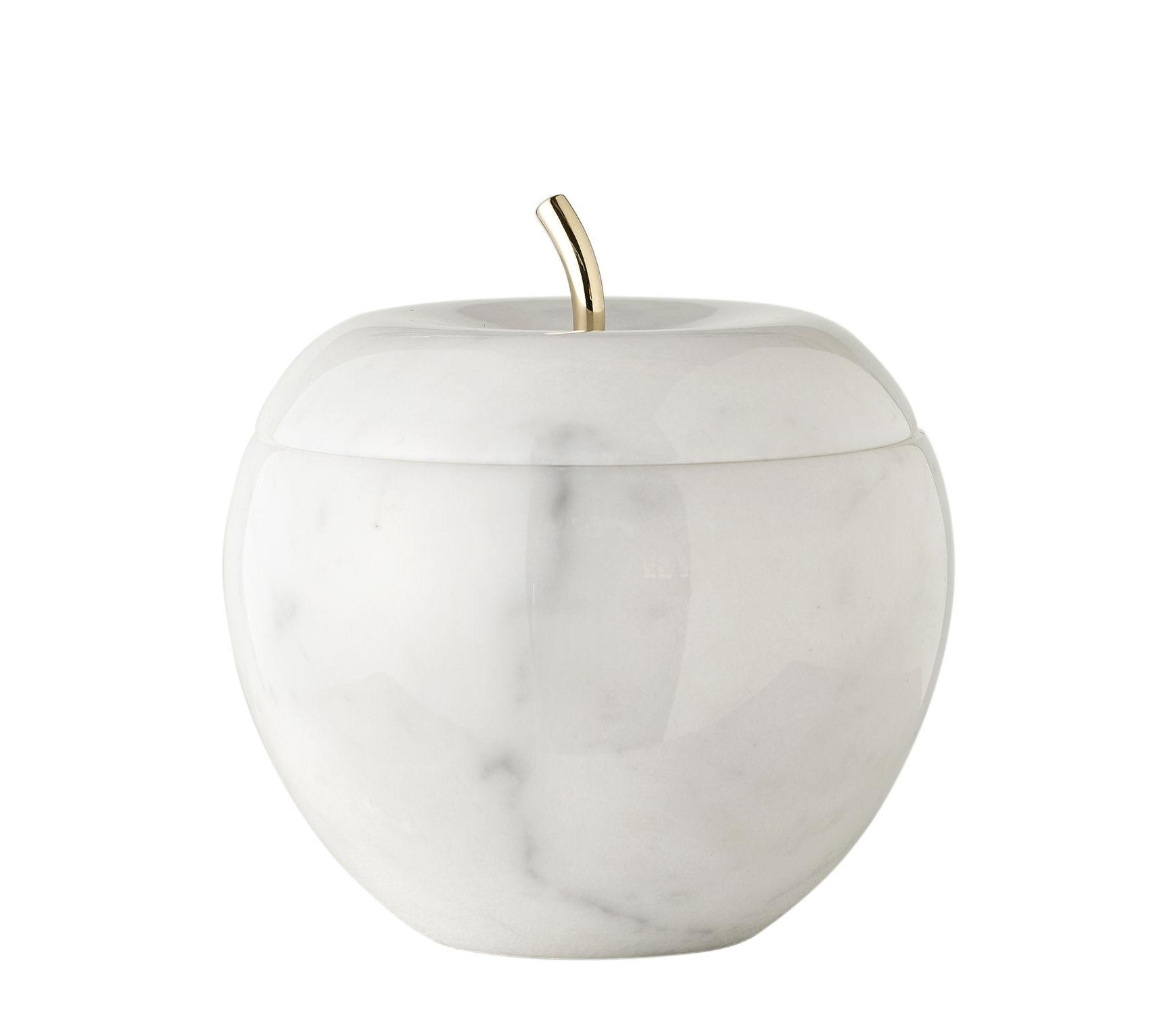Dekoration - Schachteln und Boxen - Snow White Schmuckschatulle / Spiegel - Marmor & 24-karätiges Gold - Opinion Ciatti - Marmor weiß / goldfarben - 24 Karat verzinktes Gold, Marmor