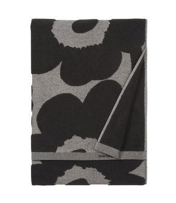 Serviette de bain Unikko / 50 x 70 cm - Marimekko gris,noir en tissu