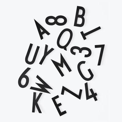 Interni - Promemoria, Calendari & Lavagne - Set Chiffres & Lettres Big - by Arne Jacobsen / Per pannello traforato di Design Letters - Nero - Plastica