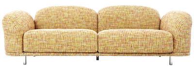 Möbel - Sofas - Cloud Sofa / L 230 cm - 3-Sitzer - Moooi - Sofa mehrfarbig / Orangetöne - Gewebe, Holz, Schaumstoff, Stahl