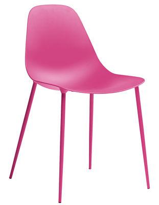 Möbel - Stühle  - Mammamia Stuhl / Sitzschale & Stuhlbeine Metall - Opinion Ciatti - Rosa - Aluminium, Metall