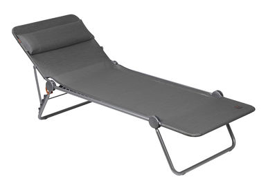 Outdoor - Sun Loungers & Hammocks - Sunside Plus Sun lounger - Foldable and reclining by Lafuma - Carbon - Batyline cloth, Steel