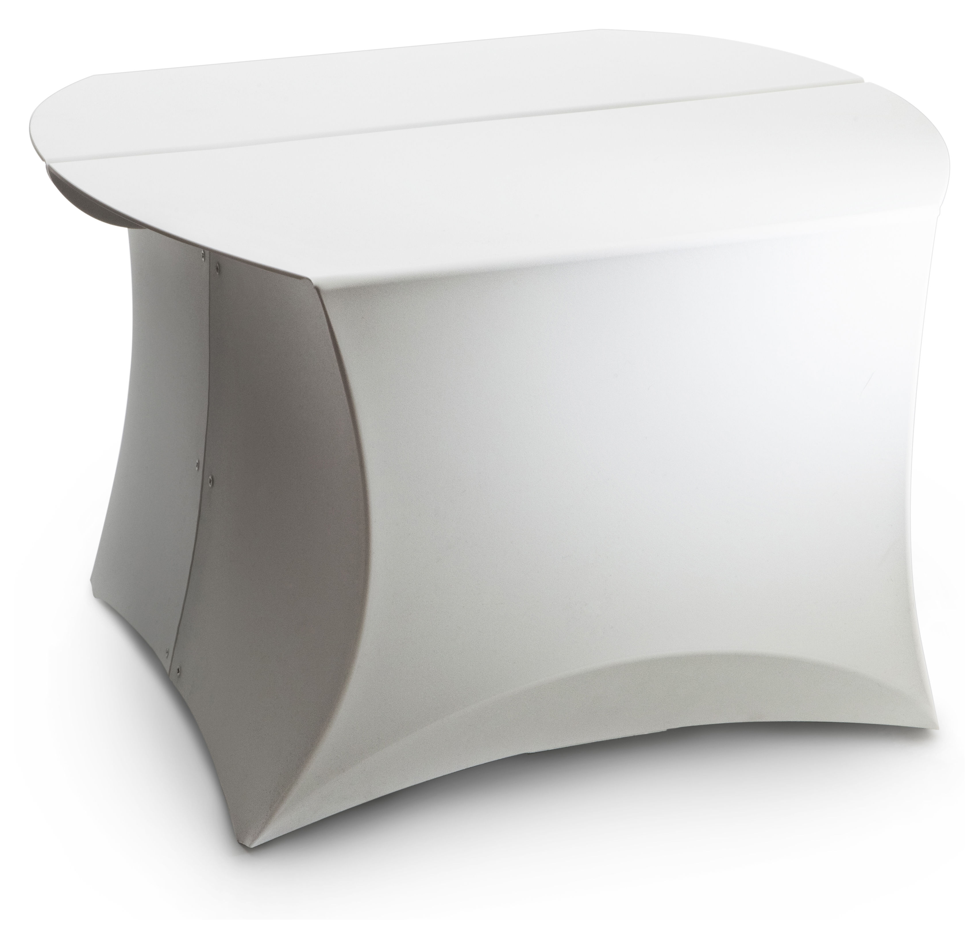 Mobilier - Tables basses - Table basse Coffee Small / 60 x 60 cm - Flux - Blanc - Polypropylène