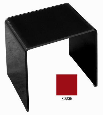 Table basse Curvi 3 L 62 cm - Glas Italia rouge laqué en verre