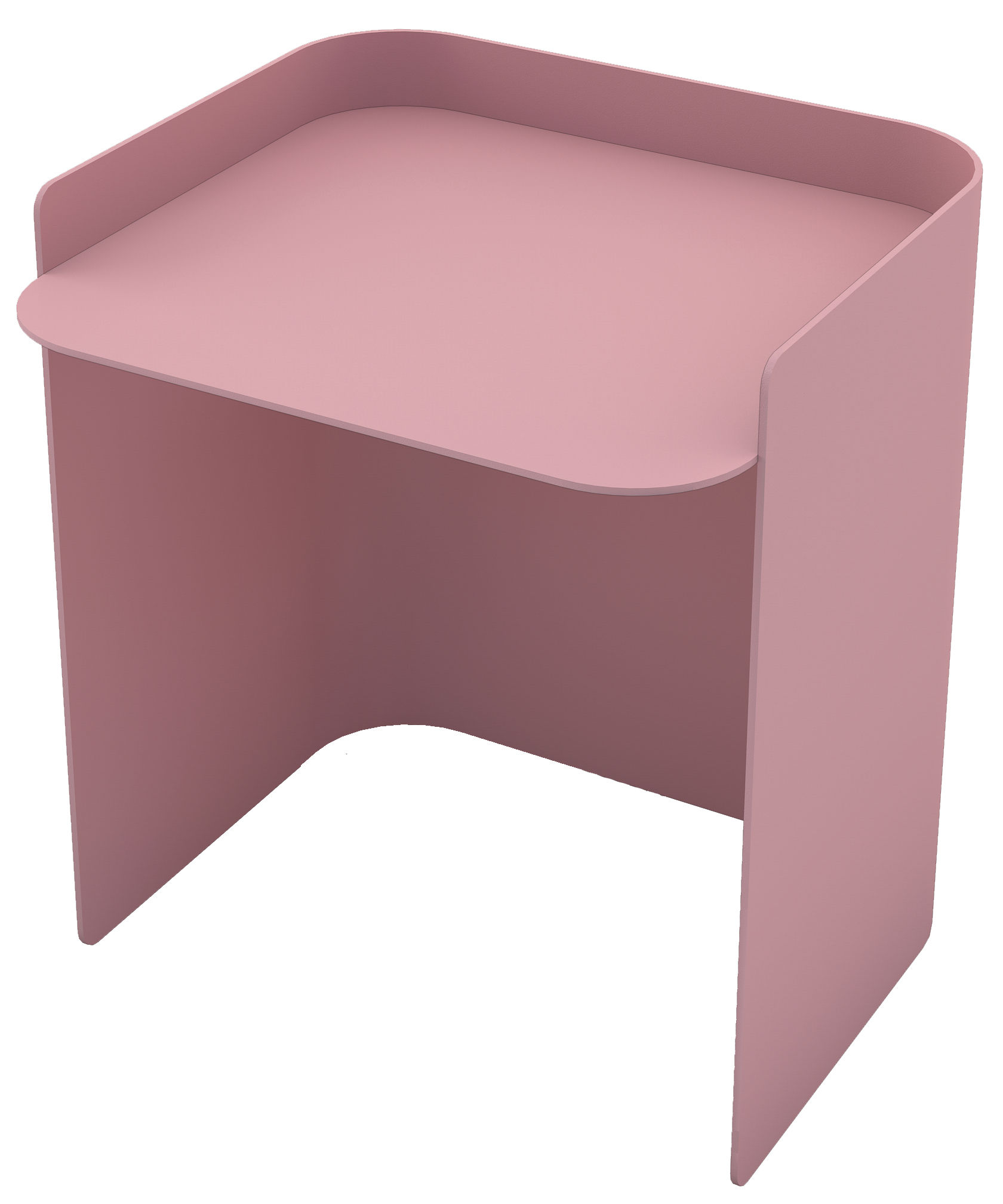 Mobilier - Tables basses - Table d'appoint Flor / Small - H 35 cm - Matière Grise - Rose Clair - Acier peint