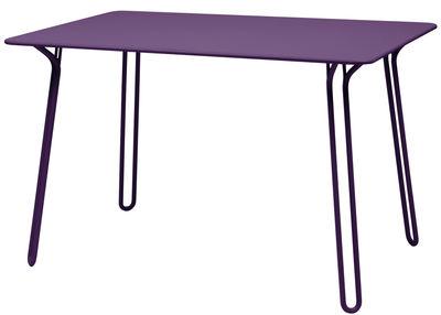 Table Surprising / 120 x 78 cm - Fermob aubergine en métal