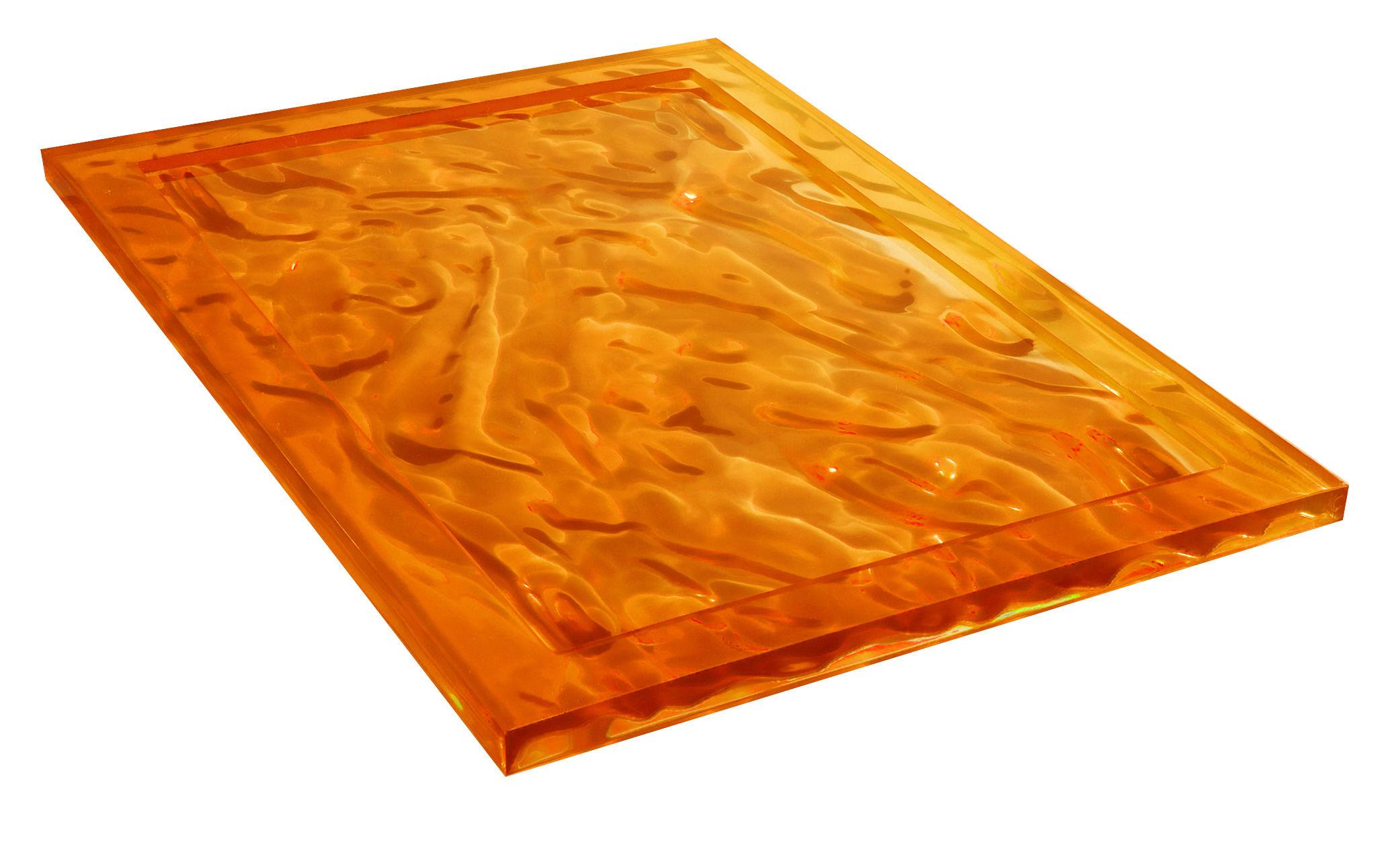 Tischkultur - Tabletts - Dune Tablett 46 x 32 cm - Kartell - Orange - Technoplymer