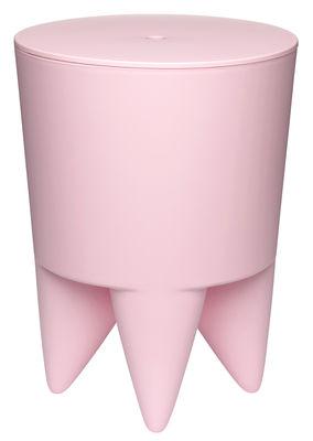 Mobilier - Tabourets bas - Tabouret New Bubu 1er Coffre - Plastique - XO - Rose pâle - Polypropylène