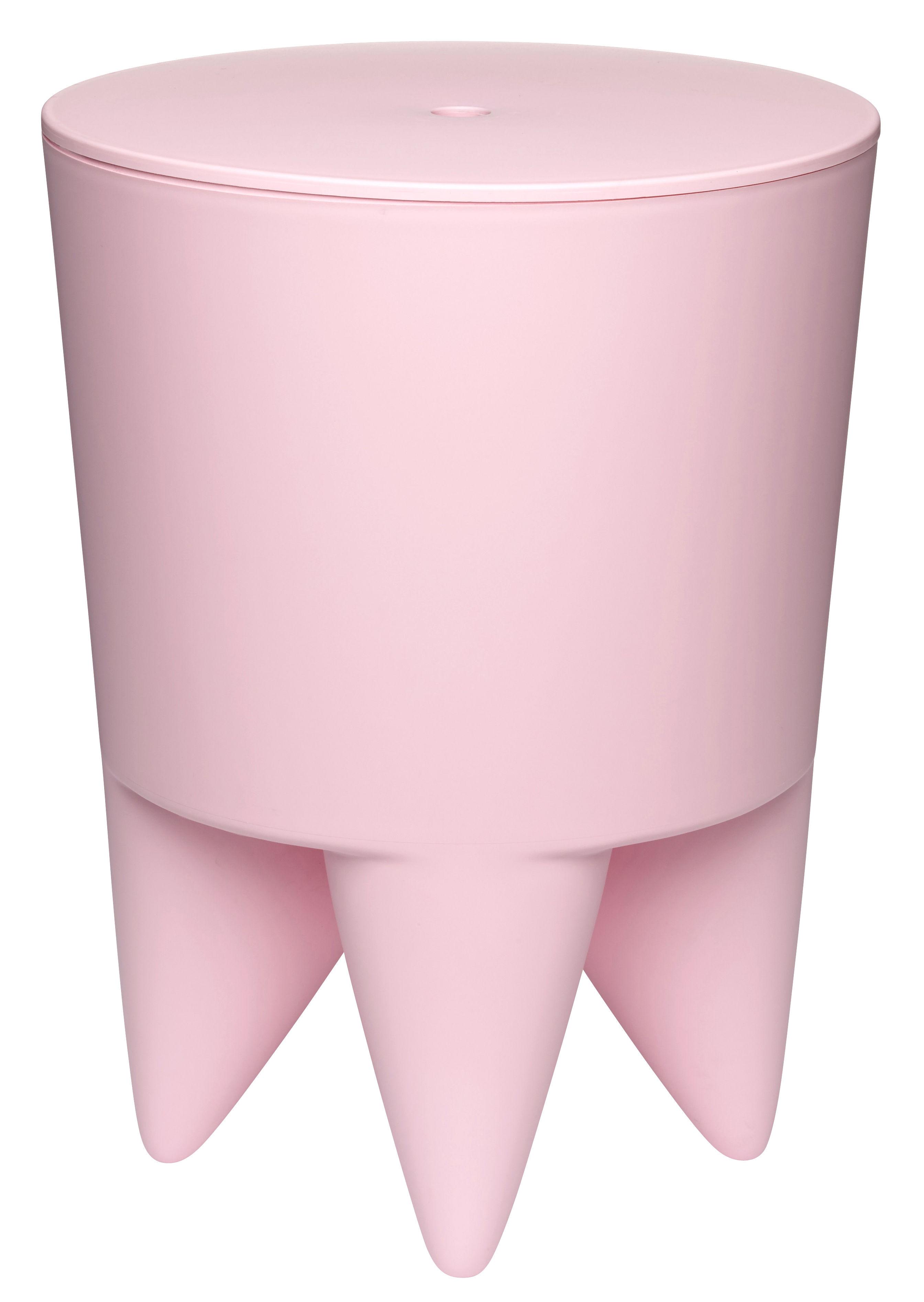 Mobilier - Tabourets bas - Tabouret New Bubu 1er / Coffre - Plastique - XO - Rose pâle - Polypropylène