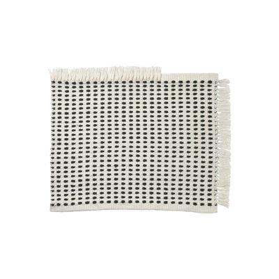 Déco - Tapis - Tapis d'extérieur Way Mat / 70 x 50 cm - Bouteilles en plastique recyclées - Ferm Living - Blanc cassé / Bleu - Polyester recyclé