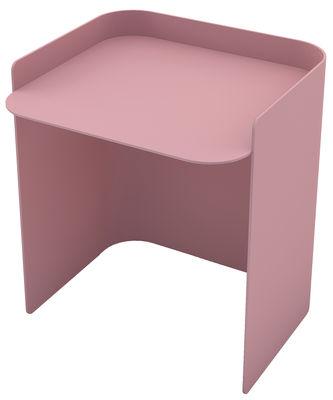 Arredamento - Tavolini  - Tavolino basso Flor / Small - H 35 cm - Matière Grise - Rosa chiaro - Acciaio verniciato