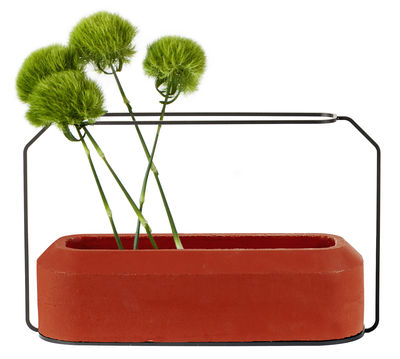 Decoration - Vases - Weight A Vase by Spécimen Editions - Red - Concrete, Steel