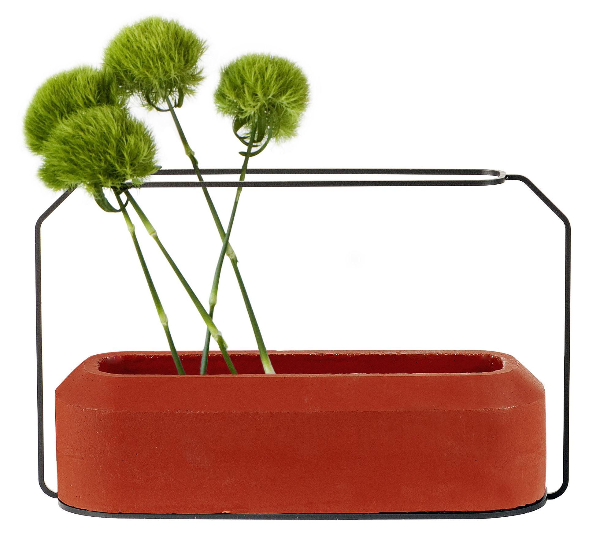 Déco - Vases - Vase Weight A / L 37 x H 22 cm - Spécimen Editions - Rouge - Acier, Béton