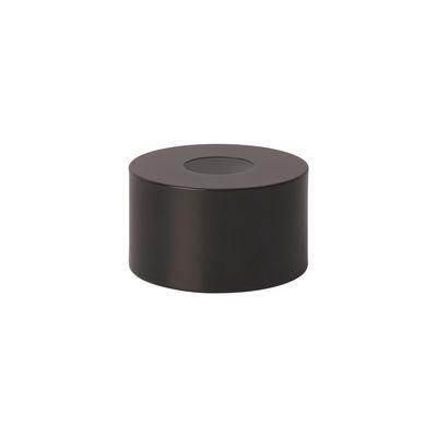 Abat-jour Disc / Pour suspension Collect - Ø 12 x H 7 cm - Ferm Living laiton noirci en métal