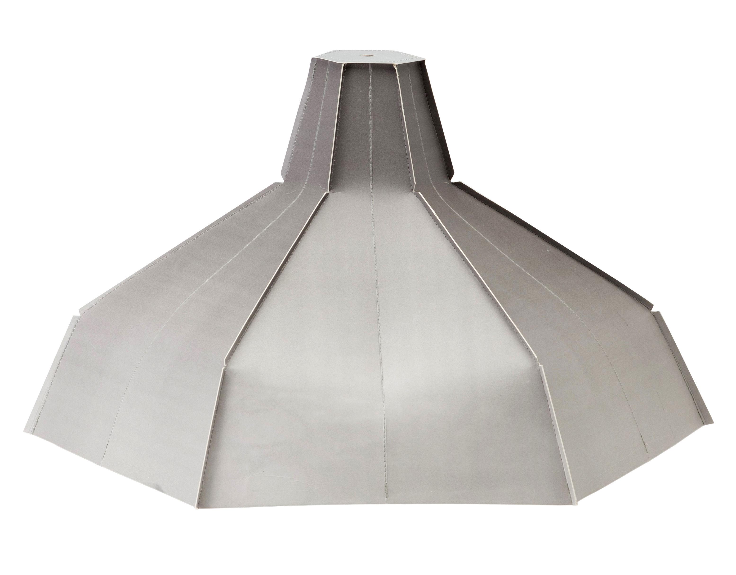 Luminaire - Suspensions - Abat-jour Pepe Heykoop / Papier - Câble et ampoule non fournis - Pop Corn - Dégradé de gris - Papier pelliculé
